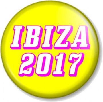 IBIZA 2017 Pinback Button Badge Summer Holiday Season Clubbing Dance Spain Hen and Stag Parties